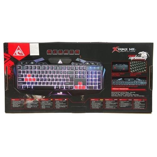 Клавиатура Xtrikeme KB-601 Black USB