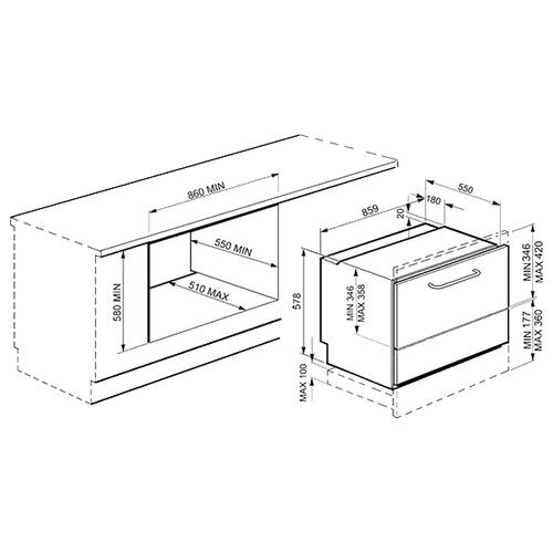 Посудомоечная машина smeg STO905-1