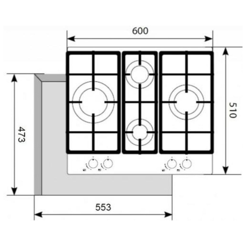 Варочная панель AKPO PGA 604 VGC WH