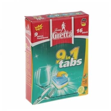 Frau Gretta 9 в 1 таблетки для посудомоечной машины
