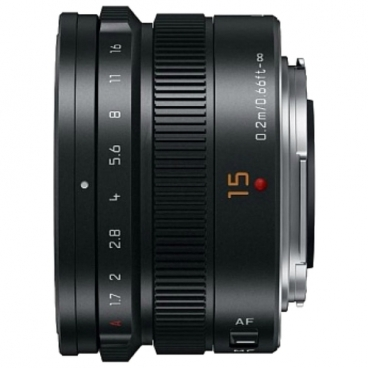 Объектив Panasonic Summilux 15mm f/1.7 Asph DG (H-X015E-K)