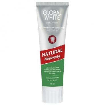 Зубная паста Global White Натуральное отбеливание энергия трав, wild mint