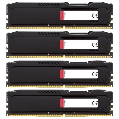 Оперативная память 16 ГБ 4 шт. HyperX HX424C15FBK4/64