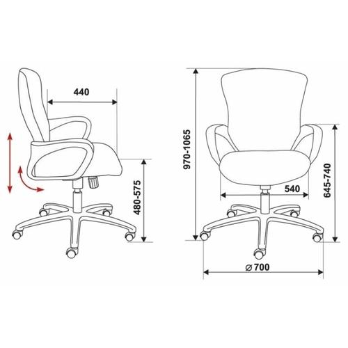Компьютерное кресло Бюрократ CH-818AXSN-Low офисное