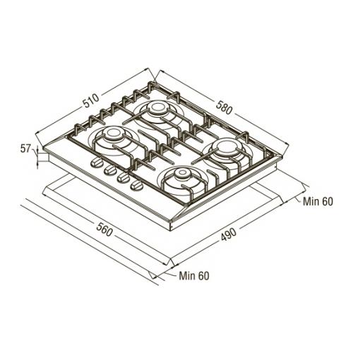 Варочная панель Schaub Lorenz SLK GE6220