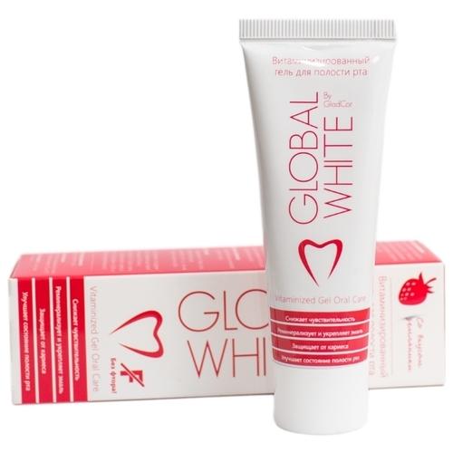 Зубной гель Global White Витаминизированный, земляника