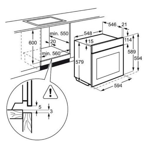 Электрический духовой шкаф Electrolux OPEB 4534 Z