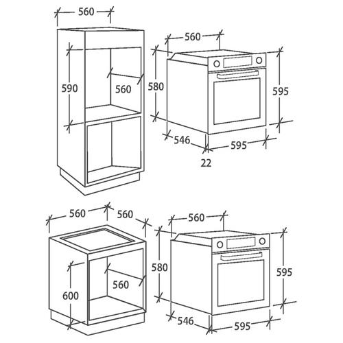 Электрический духовой шкаф Candy FCP 615 WXL