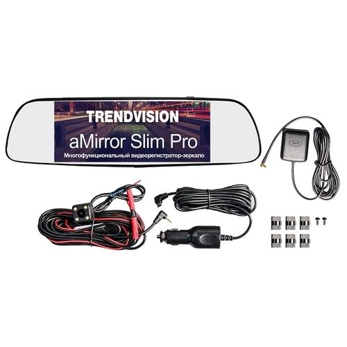 Видеорегистратор TrendVision aMirror Slim Pro, 2 камеры, GPS