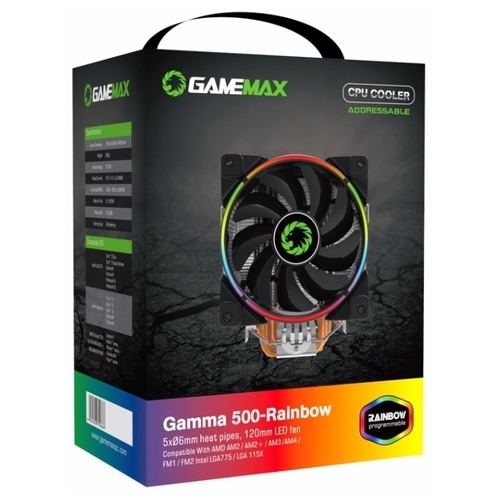 Кулер для процессора GameMax GAMMA 500 Rainbow