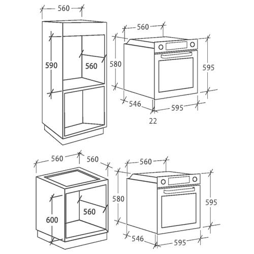 Электрический духовой шкаф Candy FCP 612 XL