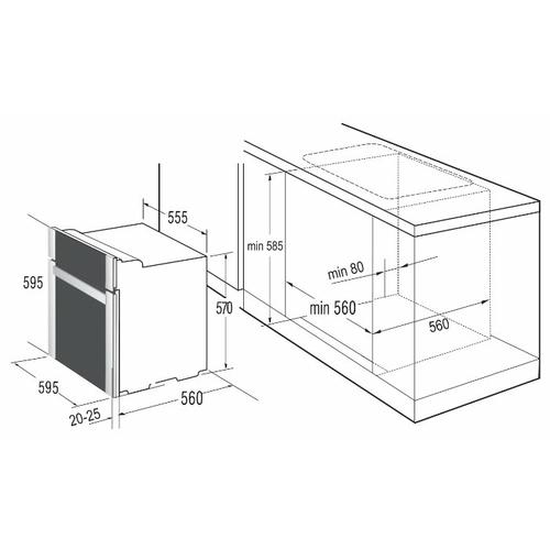 Электрический духовой шкаф Korting OKB 482 CRSB
