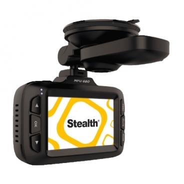 Видеорегистратор с радар-детектором Stealth MFU 680, GPS