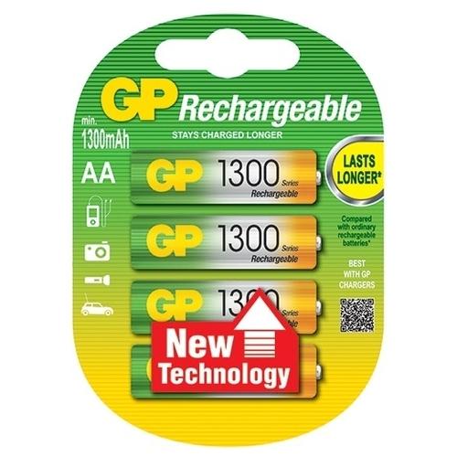Аккумулятор Ni-Mh 1300 мА·ч GP Rechargeable 1300 Series AA
