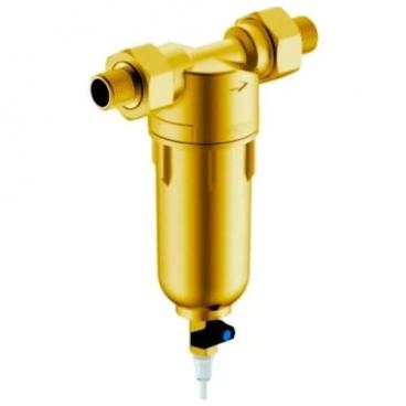 Фильтр механической очистки Гейзер Бастион 121 1/2 муфтовый (НР/НР), латунь