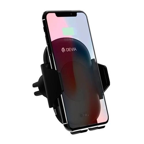 Держатель с беспроводной зарядкой Devia Smart Infrared Sensor Wireless Charger Car Mount
