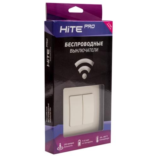 HiTE PRO Комплект (двухклавишный радиовыключатель + 2 реле) KIT-2, слоновая кость