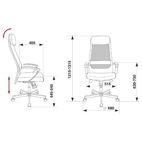 Компьютерное кресло Бюрократ T-995SL для руководителя