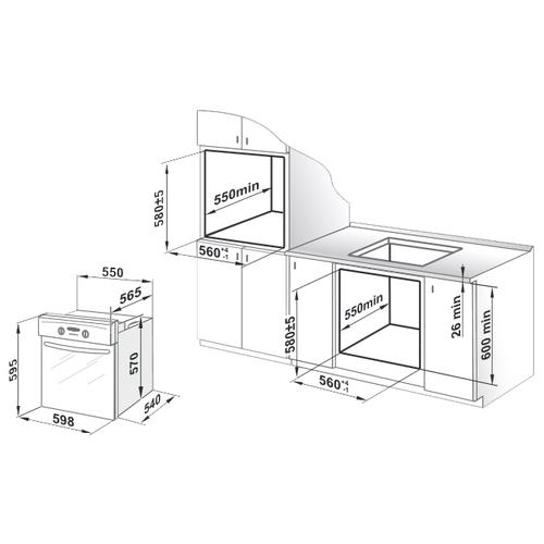 Электрический духовой шкаф GEFEST ДА 622-02 К48 S