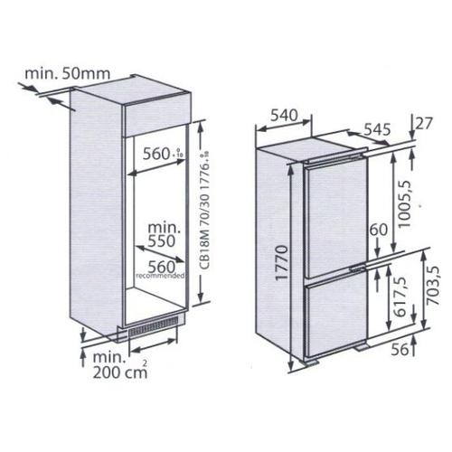 Встраиваемый холодильник Kuppersberg CRB 17762