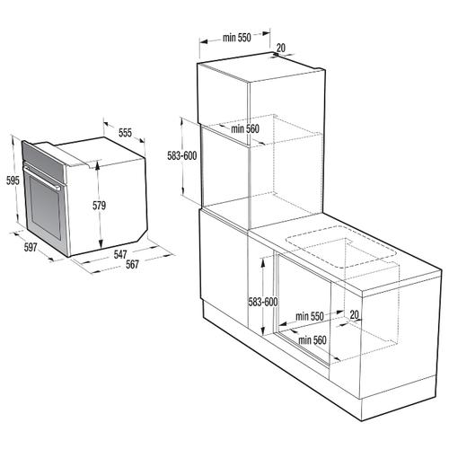Электрический духовой шкаф Gorenje BO 625E10 BG