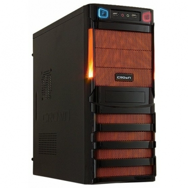 Компьютерный корпус CROWN MICRO CMC-SM162 450W Black/orange
