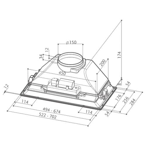 Встраиваемая вытяжка Faber Inca Smart C GR A70