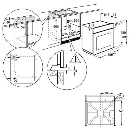 Электрический духовой шкаф AEG BSE 576321 M