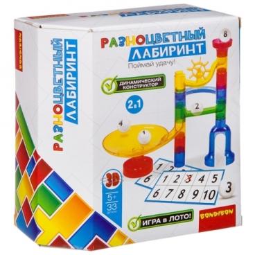 Динамический конструктор BONDIBON Разноцветный лабиринт ВВ2741