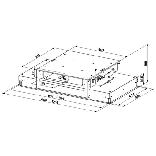Встраиваемая вытяжка Faber HIGH-LIGHT (RAD BRS) X A120