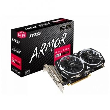 Видеокарта MSI Radeon RX 570 1268Mhz PCI-E 3.0 4096Mb 7000Mhz 256 bit DVI HDMI 3xDisplayPort HDCP Armor OC