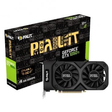 Видеокарта Palit GeForce GTX 1050 Ti 1366MHz PCI-E 3.0 4096MB 7000MHz 128 bit DVI HDMI DisplayPort HDCP Dual OC