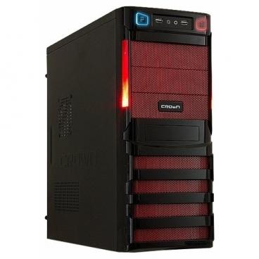 Компьютерный корпус CROWN MICRO CMC-SM162 w/o PSU Black/red