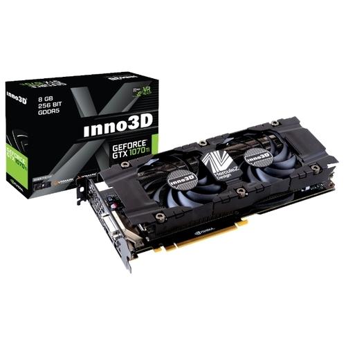 Видеокарта INNO3D GeForce GTX 1070 Ti 1607MHz PCI-E 3.0 8192MB 8000MHz 256 bit DVI HDMI HDCP X2