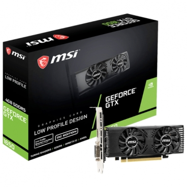 Видеокарта MSI GeForce GTX 1650 1695MHz PCI-E 3.0 4096MB 8000MHz 128 bit DVI HDMI HDCP LP OC