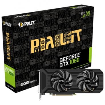 Видеокарта Palit GeForce GTX 1060 1506MHz PCI-E 3.0 6144MB 8000MHz 192 bit DVI HDMI HDCP Dual (NE51060015J9-1061D)