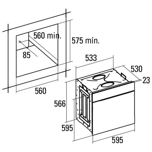 Электрический духовой шкаф CATA OMD 7009 X