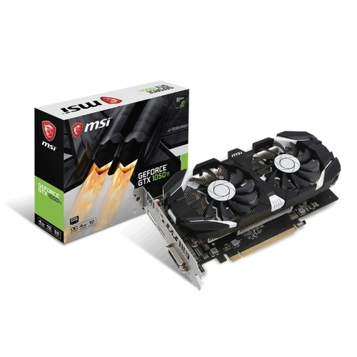 Видеокарта MSI GeForce GTX 1050 Ti 1341MHz PCI-E 3.0 4096MB 7008MHz 128 bit DVI HDMI DisplayPort HDCP OC V1
