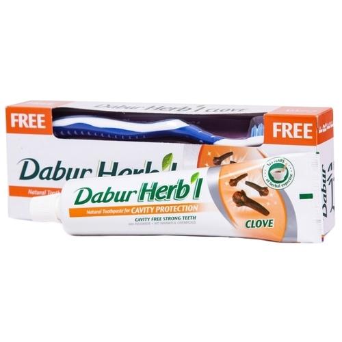 Зубная паста + щетка Dabur Herb'l Гвоздика