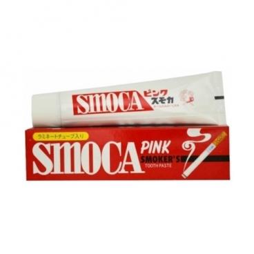 Зубная паста Smoca Pink для курильщиков, мята и зимняя зелень