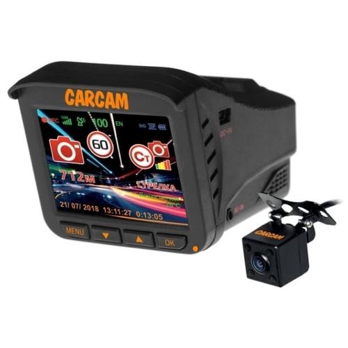 Видеорегистратор с радар-детектором CARCAM COMBO 5S, 2 камеры, GPS, ГЛОНАСС