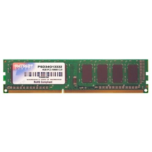 Оперативная память 4 ГБ 1 шт. Patriot Memory PSD34G13332