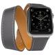 Mokka Ремешок Double Tour Hermes для Apple Watch 38/40mm