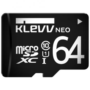Карта памяти KLEVV microSDXC Class 10 UHS-I U1 + SD adapter