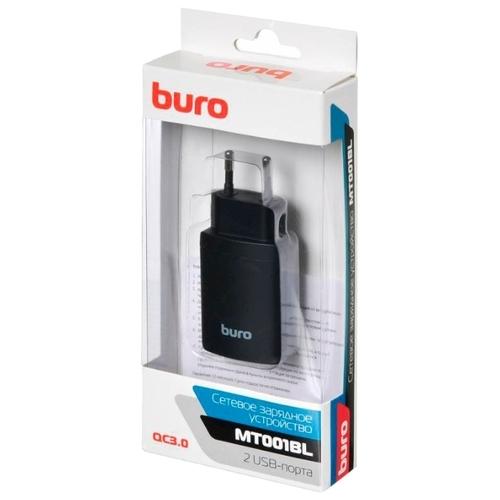 Сетевая зарядка Buro MT001BL