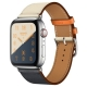 Часы Apple Watch Hermès Series 4 GPS + Cellular 40mm Stainless Steel Case with Leather Single Tour