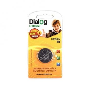 Батарейка Dialog Lithium CR2025