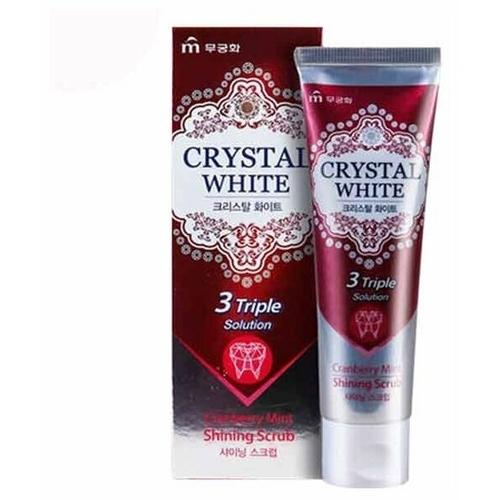 Зубная паста Mukunghwa Crystal White, клюква и мята
