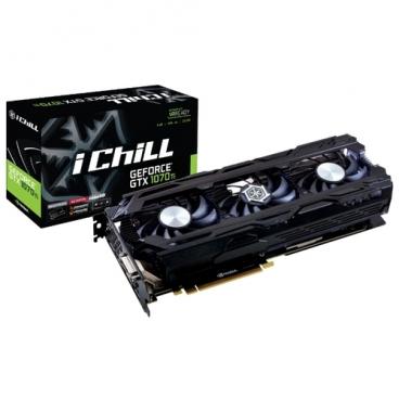 Видеокарта INNO3D GeForce GTX 1070 Ti 1607MHz PCI-E 3.0 8192MB 8000MHz 256 bit DVI HDMI HDCP iChill X3