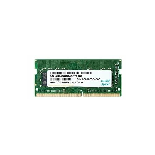 Оперативная память 4 ГБ 1 шт. Apacer DDR4 2400 SO-DIMM 4Gb